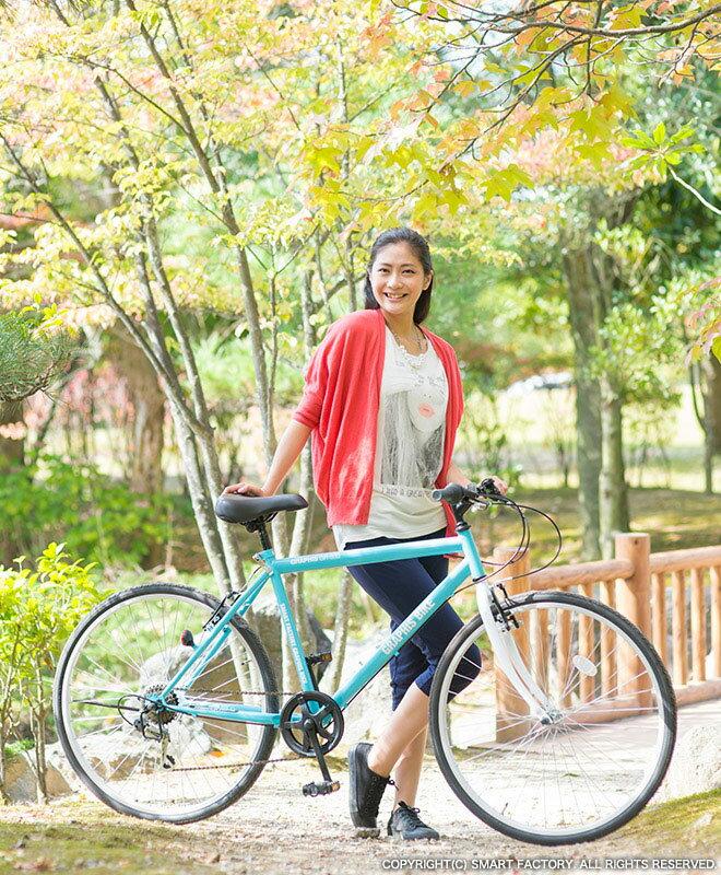 自転車 クロスバイク GRAPHIS GR-333 (7色) 自転車 26インチ シマノ製6段変速 グラフィス 通勤 通学 街乗り スポーツ・アウトドア メンズ レディース ☆