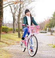 【送料無料】女の子用ジュニアバイシクル自転車20インチ22インチ24インチGRAPHISGR-Ribbon(全4色)女の子向け子供用自転車子供自転車キッズプレゼントLEDライトカゴチェーンカバークリスマス☆