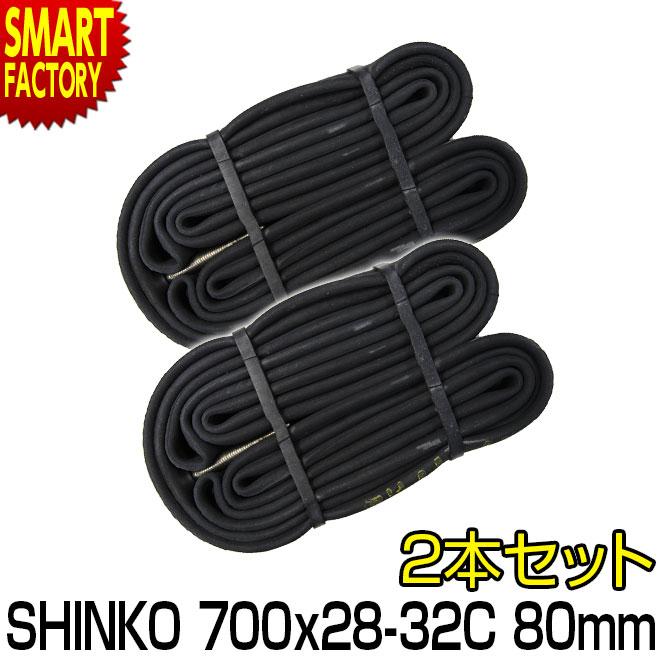 自転車用パーツ, タイヤチューブ  700C 700 28C 32C 80mm 2 FV shinko 0.9mm