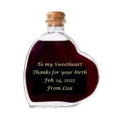 スウィートワイン 12年 名入れハート型ワイン 二人で過ごすホワイトデーに