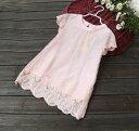 残り90cmのみ 在庫処分!女の子 大人風 レース 刺繍 ワンピース ドレス 高級感ある 上品なデザイン ワンピース 子供ドレス フォーマル  キッズ ピンク ホワイト