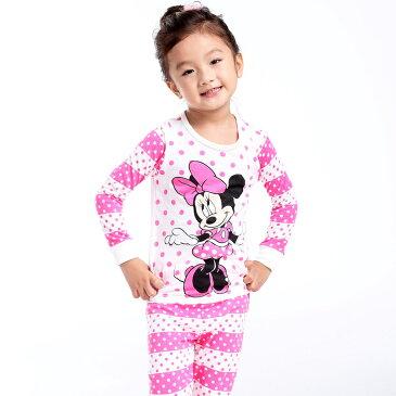 ゆうパケット送料無料 ミニーちゃん ピンク 長袖Tシャツ ロングパンツセット 女の子 パジャマ 子供 子ども 上下セット 長袖 パジャマ 寝巻き