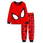 新入荷スパイダーマン長袖パジャマ上下/赤色長袖Tシャツ&ロングパンツセット男の子キッズ子どもパジャマスパイダーマン