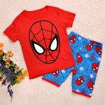 スパイダーマン半袖Tシャツハーフパンツセット子供男の子パジャマ上下セット子ども寝巻き♪