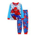 新入荷スパイダーマン長袖パジャマ灰/赤色長袖Tシャツ&ロングパンツセット男の子キッズ子どもパジャマスパイダーマン