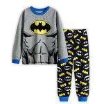 新入荷子供キャラクターバットマン長袖Tシャツロングパンツセット男の子子ども上下セットパジャマ寝巻き灰/黒