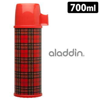 aladdin red check stainless steel water bottle 0.7L / Aladdin fs3gm