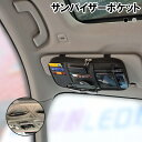 サンバイザーポケット 車用 収納バッグ 多機能ポケット インナーポケット付き サングラス ETCカード 収納可能 ドライブグッズ 駐車券 イヤホン ケーブル 便利