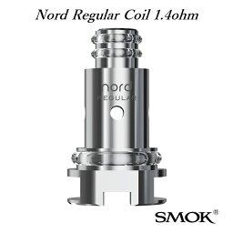 【メール便送料無料】SMOK Nord Regular Coil 1.4ohm 5pcs packノードレギュラーコイル 5個入り 電子タバコ 電子たばこ アトマイザーヘッド