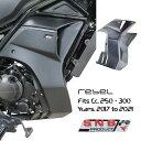 ホンダ レブル250/300 アンダーカウル一体型サイドフェアリング/Honda Rebel CMX 300 SNB Belly Panel Side Fairing 2017-2021/・・・