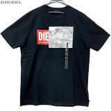 DIESEL ディーゼル 新品 半袖 Tシャツ 丸首 00SIEW 0091A 900 黒 サイズ L XL クリックポスト送料無料