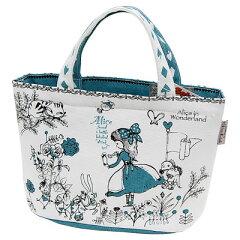 おしゃれでかわいいランチバッグ。アリス かわいい保冷ランチバッグ シンジカトウ BLUE ALICE ...