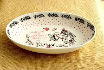 素朴な不思議の国のアリスのカレー皿、パスタにも。Shinzi Katoh DesignShinzi Katoh アリス ...