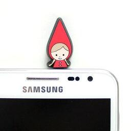 赤ずきん レッドフードのかわいいスマホ イヤホンジャック red hood cute smart phone earphone jack charm cap【メール便可】