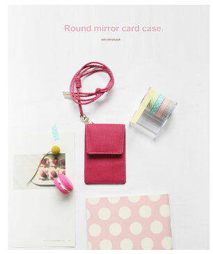 Shinzi Katoh Round mirror cardcase シンジカトウ ラウンドミラーカードケース