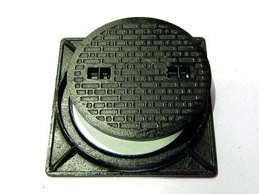 鋳鉄製 マンホール フタ径330mm フタ&枠セット 500kg荷重  穴径295mm MK-C-330 セット(枠付き) 歩道用 (普及型)マンホール 浄化槽