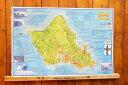 ハワイ サーフィン ポイント マップ(オアフ島)☆ハワイアン雑貨 ハワイ雑貨 アメリカン雑貨 アメリカ雑貨 インテリア 西海岸 コースタルリビング カリフォルニアスタイル サーフスタイル