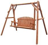 【代引き不可】木製ブランコガーデンスイング