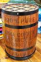 コナコーヒー木樽の傘立て(茶)☆おしゃれ 樽 傘立て ハワイアン雑貨 ハワイ雑貨 アメリカン雑貨 アメリカ雑貨 インテリア 収納 木箱 コーヒー バレル 木樽