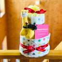 おむつケーキ ミキハウス 女の子 男の子 出産祝い 送料無料 ベビーギフト オムツケーキ mikih