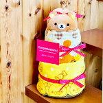 【送料無料】リッラクマ/おむつケーキ【オムツケーキ/ダイパーケーキ】【出産祝い/出産祝】【送料込み】