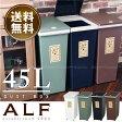 ゴミ箱 ふた付き / プッシュ式ダストボックス アルフ 45L/【ポイント 倍】【送料無料】