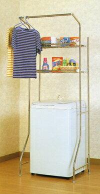 ステンレス伸縮洗濯機棚