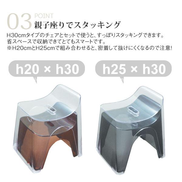 バスチェア / HUBATH バススツールh30 クリアタイプ/【ポイント 倍】