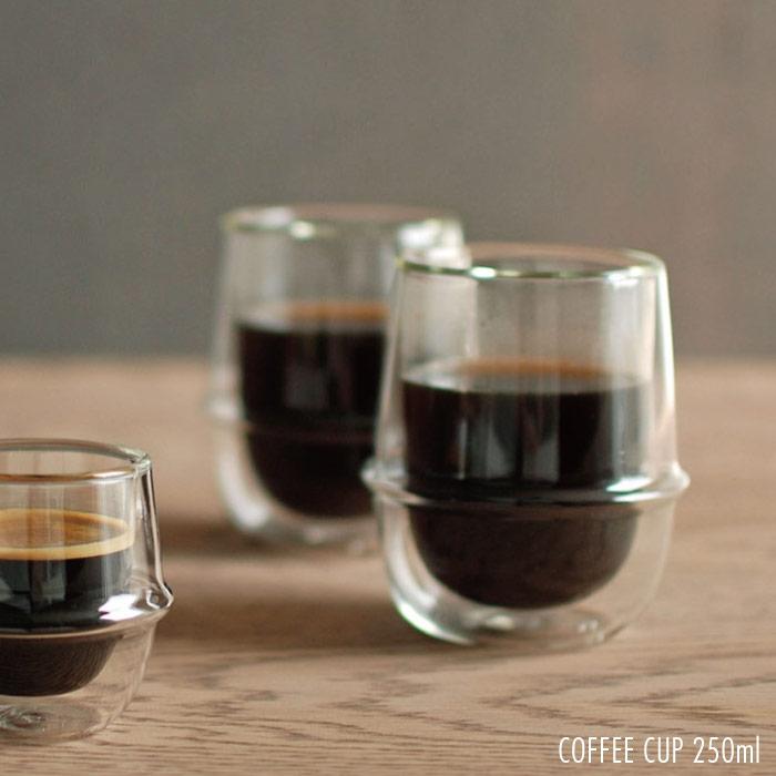耐熱ガラス カップ コップ /  キントー クロノス ダブルウォール コーヒーカップ 250ml KINTO KRONOS Double wall coffee cup 23107 【P10】/10P03Dec16