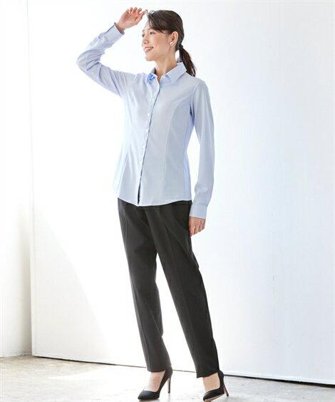 L-10L(i-shirt)アイシャツトップスオフィスシャツ白シャツブラウス30代40代50代女性秋春大きいサイズレディース