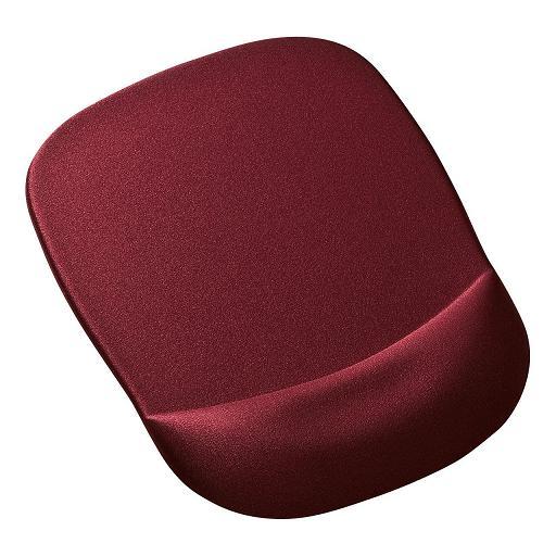 サンワサプライ 低反発リストレスト付きマウスパッド(ワインレッド )