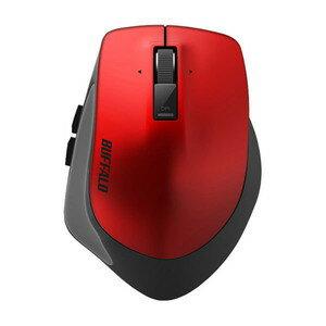 バッファロー Bluetooth3.0 BlueLEDプレミアムフィットマウス Lサイズ レッド BSMBB500LRD