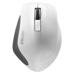 バッファロー 無線 BlueLED 3ボタンプレミアムフィットマウス ホワイト BSMBW300MWH