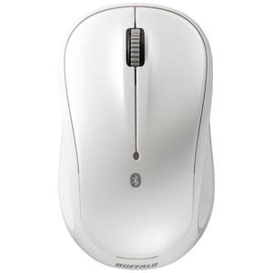 バッファロー Bluetooth BlueLED 静音 3ボタンマウスホワイト BSMBB108WH