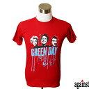 バンドTシャツ against Green Day グリーン・デイ 音楽 プリントTシャツ グッズ ロック パンク 洋楽 Tシャツ メンズ レディース サイズM&L