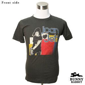デザインTシャツ BUNNY RABBIT Joan Jett ジョーン・ジェット Bad Reputation バンドTシャツ ビンテージ風 プリントTシャツ グッズ 伝説の女性ロッカー ロック レジェンド フェス 音楽 ロックT Tシャツ メンズ レディース サイズM&L