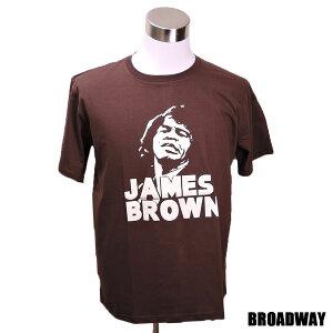 デザインTシャツ Broadway James Joseph Brown Jr. ジェームズ・ブラウン ソウルミュージック レジェンド Tシャツ メンズ レディース サイズM&L