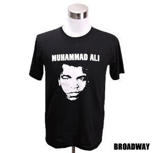 【ポイント10倍! 12/15 23:59まで!】デザインTシャツ Broadway Muhammad Ali2 モハメド・アリ2 ボクシング レジェンド Tシャツ メンズ レディース サイズM&L
