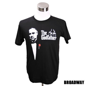デザインTシャツ Broadway The Godfather ゴッドファーザー 映画Tシャツ プリントTシャツ グッズ 洋画 マーロン・ブランドー Tシャツ メンズ レディース サイズM&L