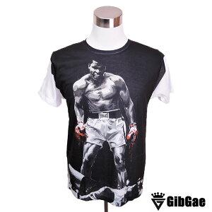 【ポイント10倍! 12/15 23:59まで!】デザインTシャツ GibGae Muhammad Ali2 モハメド・アリ2 ボクシング レジェンド Tシャツ メンズ レディース サイズM&L