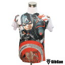デザインTシャツ GibGae Captain America5 キャプテン・アメリカ5 映画Tシャツ アメコミ アベンジャーズ Tシャツ メンズ レディース サイズM&L
