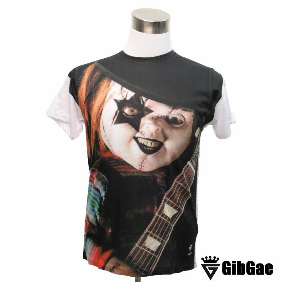 デザインTシャツ GibGae Chucky2 チャッキー2 映画Tシャツ ホラー チャイルド・プレイ Tシャツ メンズ レディース サイズM&L