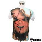 【24時間限定☆20%値下げ対象☆】Chucky チャッキー チャイルドプレイ 映画Tシャツ【ホラー・チャイルド・プレイ・こわかわいい】 Tシャツ メンズ レディース【サイズM&L】