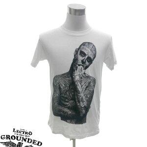 デザインTシャツ LECTRO GROUNDED Zombie Boy ゾンビボーイ Rick Genest リック・ジェネスト タトゥー ファッション プリントTシャツ グッズ Tシャツ メンズ レディース サイズM&L
