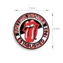 The Rolling Stones ザ・ローリング・ストーンズ デザインアイロンワッペン パッチ [雑貨 UK ロック バンド レジェンド 音楽 グッズ ファッション] お手軽 アレンジ