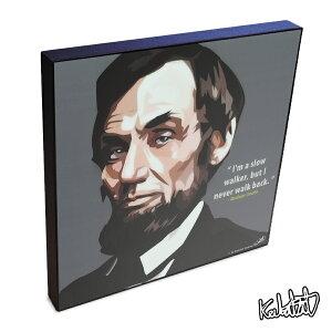 アートパネル Abraham Lincoln エイブラハム・リンカーン ポップアートパネル ポスター 壁掛け オシャレ インテリア グッズ 雑貨
