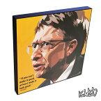 Bill Gates ビル・ゲイツ KEETATAT SITTHIKET インテリア雑貨 おしゃれ ポップアートフレーム ポップアートパネル 絵 イラスト グラフィック 壁掛け 経済 偉人 CEO コンピューター