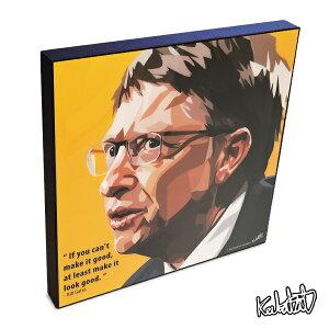 Bill Gates ビル・ゲイツ KEETATAT SITTHIKET ポップアートパネル ポップアートフレーム 絵 イラスト グラフィック 壁掛け おしゃれ インテリア 経済 偉人 CEO コンピューター