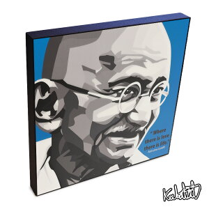 アートパネル Mahatma Gandhi マハトマ・ガンディー ガンジー インテリア インド独立の父・偉大な指導者 ウォールアート 偉人 レジェンド アートグッズ おしゃれ イラスト 絵 絵画 ポップアート アートフレーム 雑貨