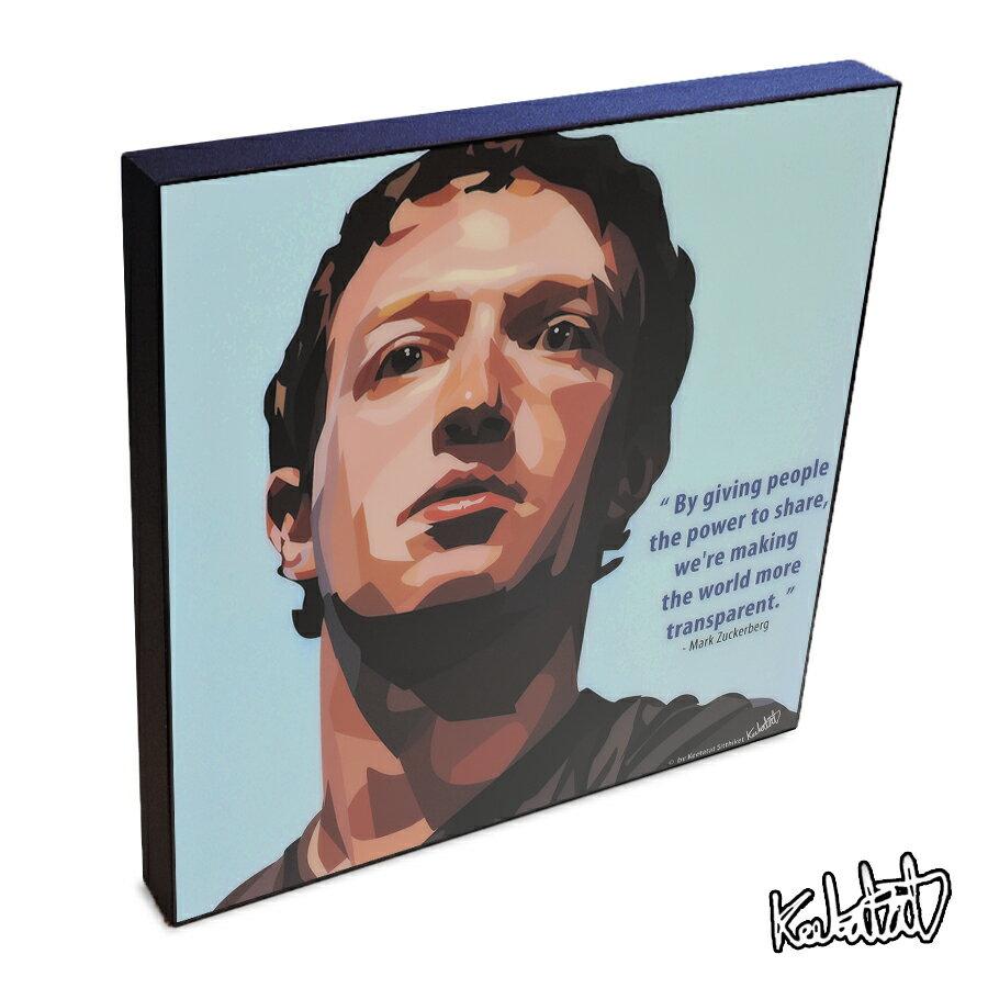【2/19 20:00-2/26 10:59 ポイント10倍!】 Mark Zuckerberg マーク・ザッカーバーグ KEETATAT SITTHIKET インテリア雑貨 おしゃれ ポップアートフレーム ポップアートパネル 絵 イラスト グラフィック 壁掛け 経済 偉人 CEO ソーシャルネットワーク Facebook